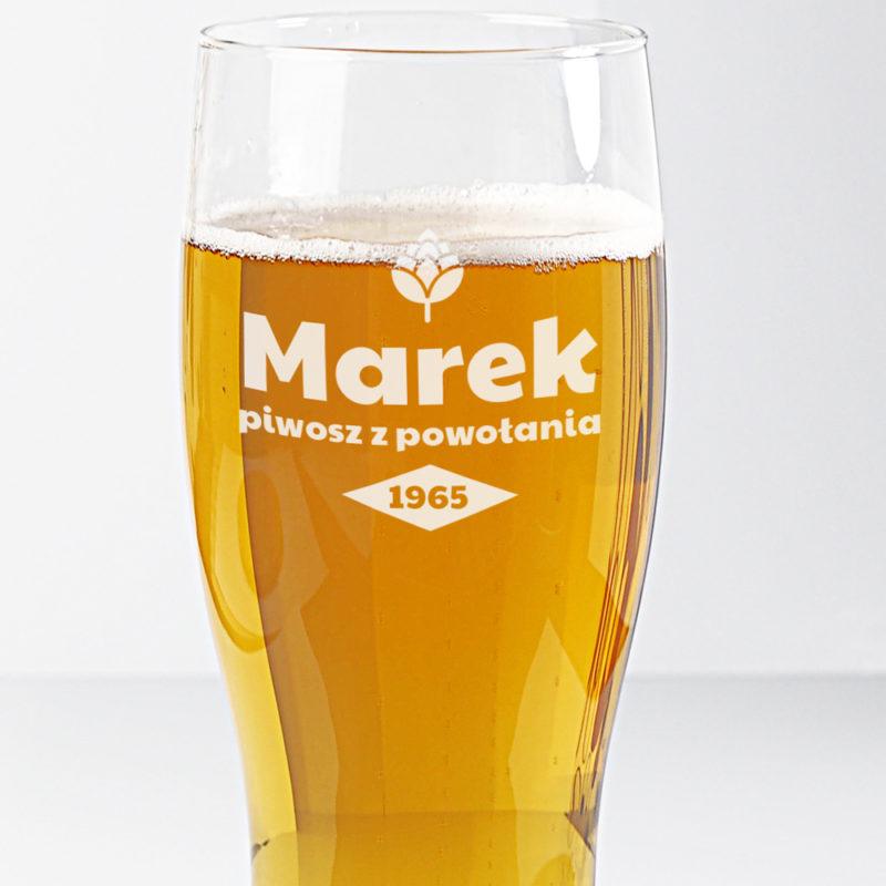 szklanka do piwa z dowolnym nadrukiem