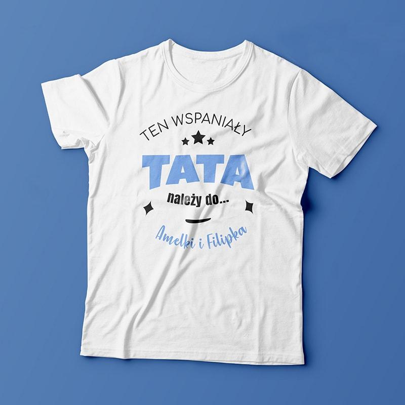 na zdjęciu koszulka dla taty