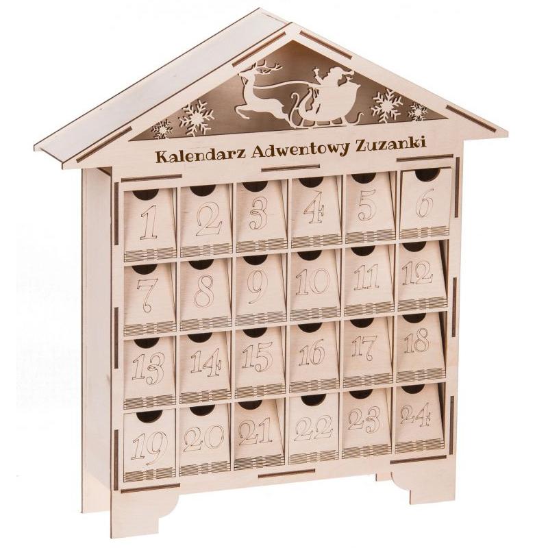 kalendarz adwentowy drewniany