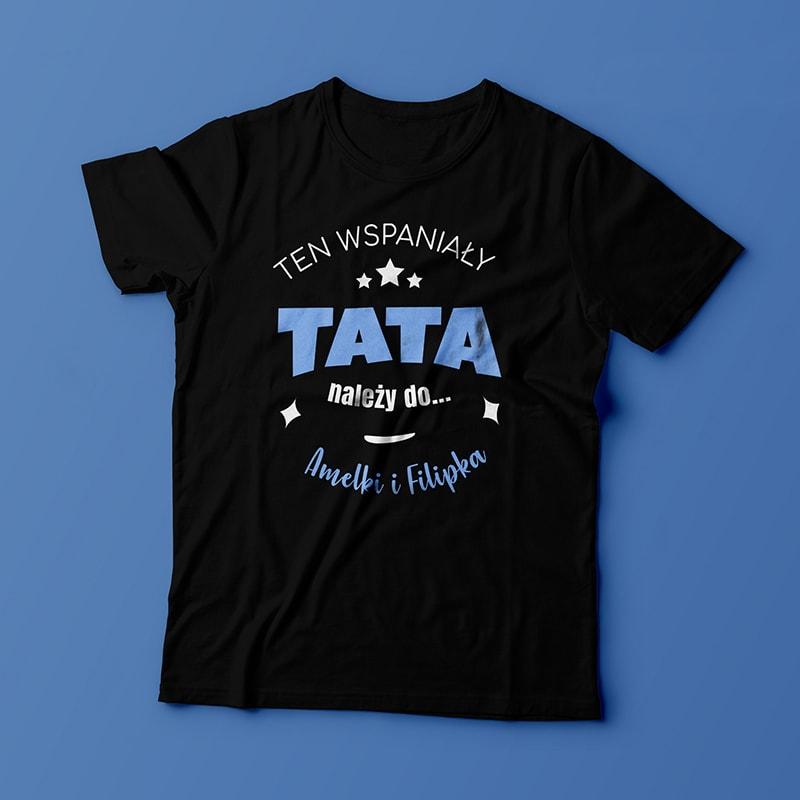 Na zdjęciu widoczna koszulka dla taty od dzieci
